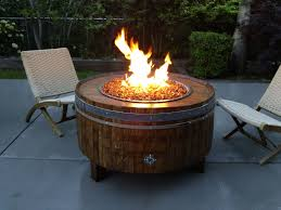wine barrel fire table the best lpgasfirepitdyi shop wine barrel fire sonoma of indoor pit