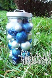 fill a jar with christmas ornaments the purple pumpkin blog