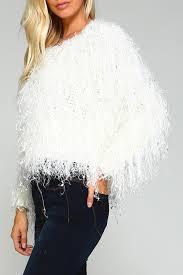 fur sweater racine white fur sweater from california shoptiques