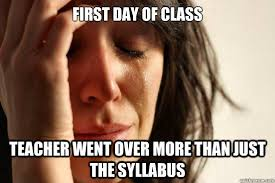 First Day Of Class Meme - best back to school memes smosh