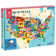 Map Puzzle Usa by Mudpuppy Map Of The Usa 70 Pc Puzzle Jigsaw Puzzles