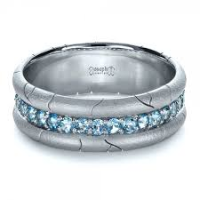 men s rings men s custom ring with aquamarine 1203