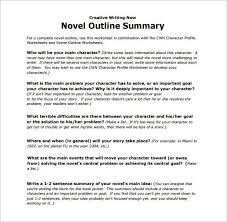 novel outline template chapter by chapter chapter outline