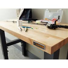 4 u0027 wide adjustable height hardwood workbench gladiator