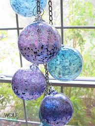 wolf glass ornament suncatcher carriewolf net