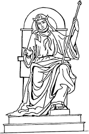 coloring page for king solomon king solomon throne coloring page netart