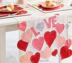 valentines day table runner s day heart table runner pottery barn kids