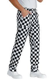 pantalon cuisine noir pantalon de cuisine noir à carreaux blancs en 100 coton panoplee