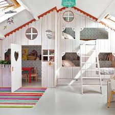 girls bedroom ideas attic room design with small playhouse
