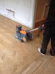 Buffing Laminate Wood Floors Herringbone Oak Parquet Sanded Buffed And Finished Step
