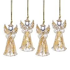 lenox hanging ornaments gold set of 4 home