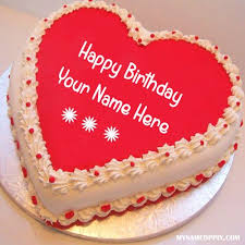 birthday cake online write name on heart look birthday cake online print your name