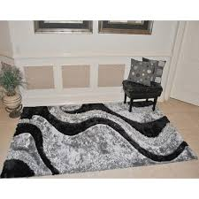 3d Area Rugs Everrouge 3d Black Area Rug 8 X 10 Free Shipping Today