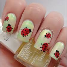 ladybug nail art isadora global