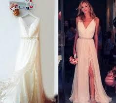 simple wedding dresses for brides blush vintage wedding dress boho wedding dress flosluna