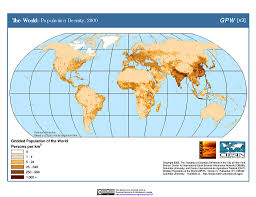 Robinson Map Maps Gridded Population Of The World Gpw V3 Sedac