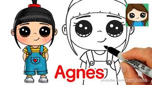 Cute Halloween Pictures To Draw How To Draw Agnes Easy Despicable Me Youtube