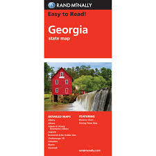Georgia State Map by Rand Mcnally Easy To Read State Folded Map Georgia