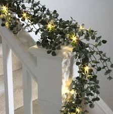 pre lit wreath eucalyptus garland with led lights