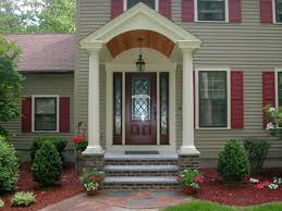 attractive design home porch this one story country home features