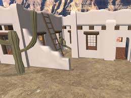 second life marketplace adobe house southwestern home small