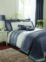 life from coloroll aston quilted panel duvet set charcoal ponden