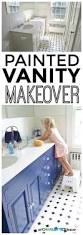 Repainting The Vanity Navy Blue Vanity Makeover At Charlotte U0027s House