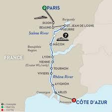 Provence France Map Burgundy U0026 Provence River Cruise Avalon Waterways France