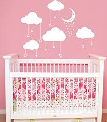 Wall Decals For Baby Nursery Cloud Wall Decals Baby Room Nursery Clouds Moon And Wall