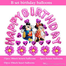 kids birthday balloon delivery happy birthday balloons set foil mickey minnie balloon for