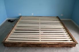 Bed Slat Frame Outstanding Build A King Sized Platform Bed Diywithrick Regarding