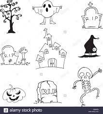 halloween background tombs doodle of halloween vector art stock vector image 72915257 doodle