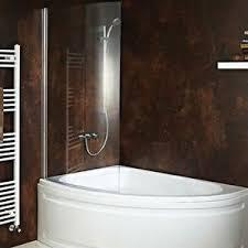 Corner Bathroom Showers Carolina Corner Bath With Hinged Curved Shower Screen Front