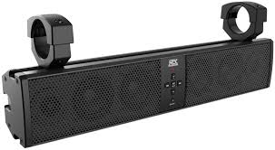 polaris rzr 6 bluetooth speaker sound bar waterproof by mtx