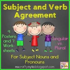 55 best subject verb agreement images on pinterest subject verb