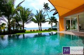 bedroom beach front villa for sale in klong son koh chang
