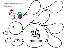 printable rooster templates kid crafts for new year