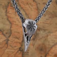 skull pendant necklace images The helm of awe raven skull pendant necklace enchantory jpg