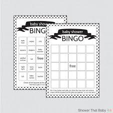 black and white baby shower bingo cards blank bingo cards