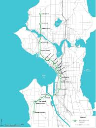Seattle Rail Map by Map Of The Green Line
