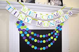 monsters inc baby shower decorations welcome tiny baby shower banner inc