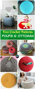 Crochet Ottoman Pattern Crochet Poufs Ottoman Free Patterns Diy Tutorials