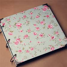 cloth photo album vintage fabric cloth cover 16 inch diy album stick creative family