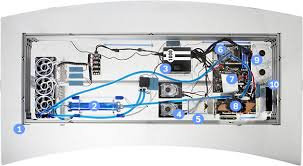 bureau avec ordinateur intégré intégration d un pc watercoolé dans un bureau