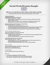 Resume For Work Experience Sample by Social Work Resume Sample U0026 Writing Guide Resume Genius