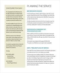 funeral program format memorial service program template best