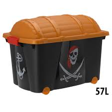 pirate childrens plastic storage container toy chest box with