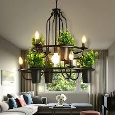Decor Chandelier American Style Industrial Decor Plant Flowerpot Chandelier
