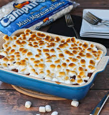 sweet potato bread pudding with marshmallow topping cooks
