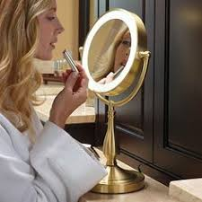 black touch control lighted makeup mirror reflections by conair home vanity fluorescent collection mirror